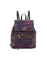 kate spade new york Blue Jessa Tweed Backpack