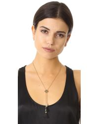 kate spade new york - Black Moroccan Tile Y Necklace - Lyst