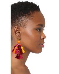 kate spade new york - Multicolor Pretty Poms Tassel Statement Earrings - Lyst
