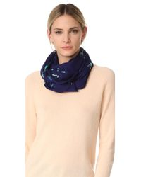kate spade new york | Blue Peacock Oblong Scarf | Lyst