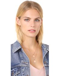 kate spade new york - Metallic 'j' Initial Pendant Necklace - Lyst