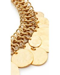 Kenneth Jay Lane - Metallic Coin Chain Choker Necklace - Lyst