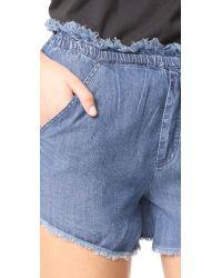Knot Sisters - Blue Jordan Shorts - Lyst