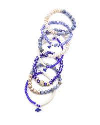 Lacey Ryan - Blue Mykonos Bracelet Set - Lyst