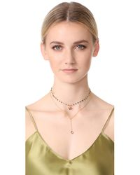 Lacey Ryan - Metallic Dainty Layer Lariat Necklace - Lyst