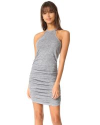 Lanston | Gray Ruched Halter Dress | Lyst