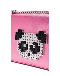 Les Petits Joueurs - Pink Metallic Mini Janis Bag - Lyst