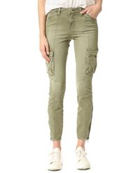 L'Agence - Blue Montgomery Skinny Cargo Pants - Lyst