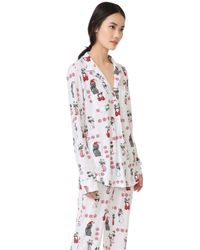 Love+Grace - White Kittens And Puppies Cassie Pj Set - Lyst
