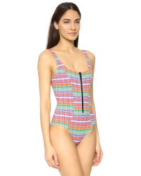 Lisa Marie Fernandez - Multicolor Jasmine Madras Swimsuit - Lyst