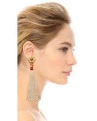Lizzie Fortunato - White Cream Tahitian Tassel Earrings - Lyst