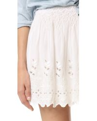 Love Sam - Multicolor Garden Eyelet Embroidered Skirt - Lyst