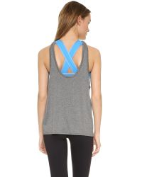 Live The Process - Gray Linear V Tank With Bra - Lyst