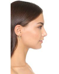 Luv Aj - Metallic The Crescent Flare Earrings - Lyst