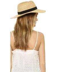 Madewell - Black Packable Woven Hat - Lyst