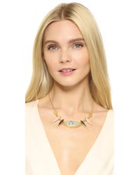 Madewell - Metallic Petal Statement Necklace - Lyst