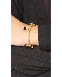 Madewell - Metallic Raffia Tassel Bracelet - Lyst