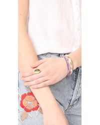 Madewell - Metallic Delicate Beveled Cuff Bracelet - Lyst