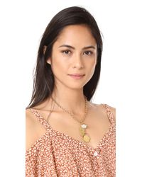 Madewell | Metallic Oversized Charm Lariat Necklace | Lyst