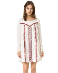 Scotch & Soda - Multicolor Embroidered Boho Dress - Lyst