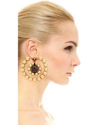 Marni | Metallic Earrings With Resin | Lyst