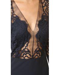 Michelle Mason Multicolor Long Sleeve Lace Jumpsuit