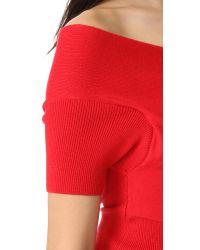 Michelle Mason - Red Short Sleeve Cross Wrap Top - Lyst