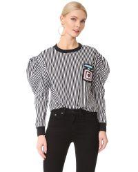 Michaela Buerger - Black Puff Sleeve Sweatshirt - Lyst