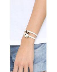McQ - Metallic Electro Bunny Mini Bracelet - Lyst