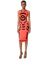 McQ - Multicolor Cutout Body Con Dress - Lyst