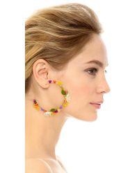 Mercedes Salazar - Metallic Flor Mora Earrings - Lyst