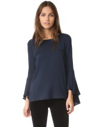 MILLY - Blue Bell Sleeve Top - Lyst