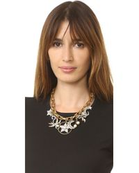 Marc Jacobs - Metallic Crystal Charm Statement Necklace - Lyst