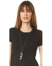 Marc Jacobs - Metallic Cluster Charm Necklace - Lyst