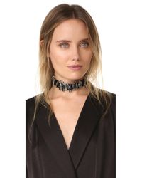 Marc Jacobs - Multicolor Safety Pin Velvet Choker Necklace - Lyst