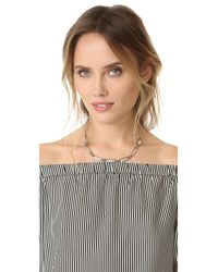 Marc Jacobs - Multicolor Strass Safety Pin Link Necklace - Lyst
