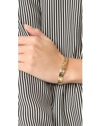 Marc Jacobs - Metallic Icon Cuff Bracelet - Lyst