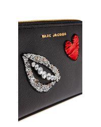 Marc Jacobs | Black Sequin Hand To Heart Zip Wristlet | Lyst