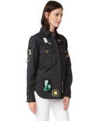 Marc Jacobs Black Padded Military Shirt