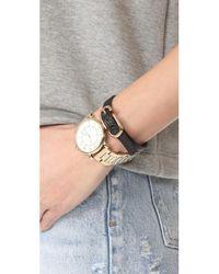 Marc Jacobs - Black Icon Buckle Leather Bracelet - Lyst