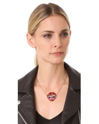 Marc Jacobs Multicolor Lips In Lips Pendant Necklace