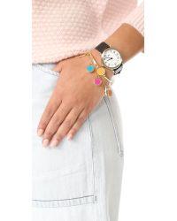 Marc Jacobs - Multicolor Logo Disc Rainbow Statement Bracelet - Lyst