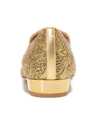 Michael Kors Metallic Roxanne Floral Brocade Loafers