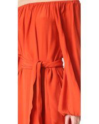MLM Label Orange Dash Midi Dress