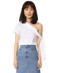 MLM Label | White Asymmetrical Tie Top | Lyst