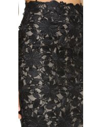 Monique Lhuillier - Black Pencil Skirt - Lyst