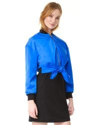 Moschino - Blue Jacket With Tie - Lyst