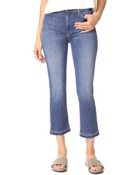 Mother Blue The Insider Crop Undone Hem Jeans