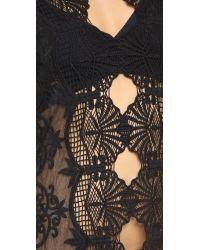 Nightcap - Black Seashell Lace Caftan - Lyst
