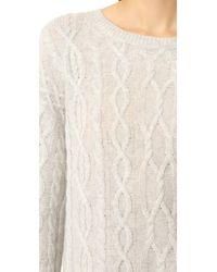 Nili Lotan Gray Holly Cashmere Sweater